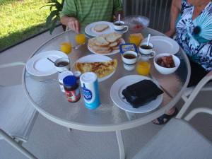 De gebruikelijke ontbijt foto